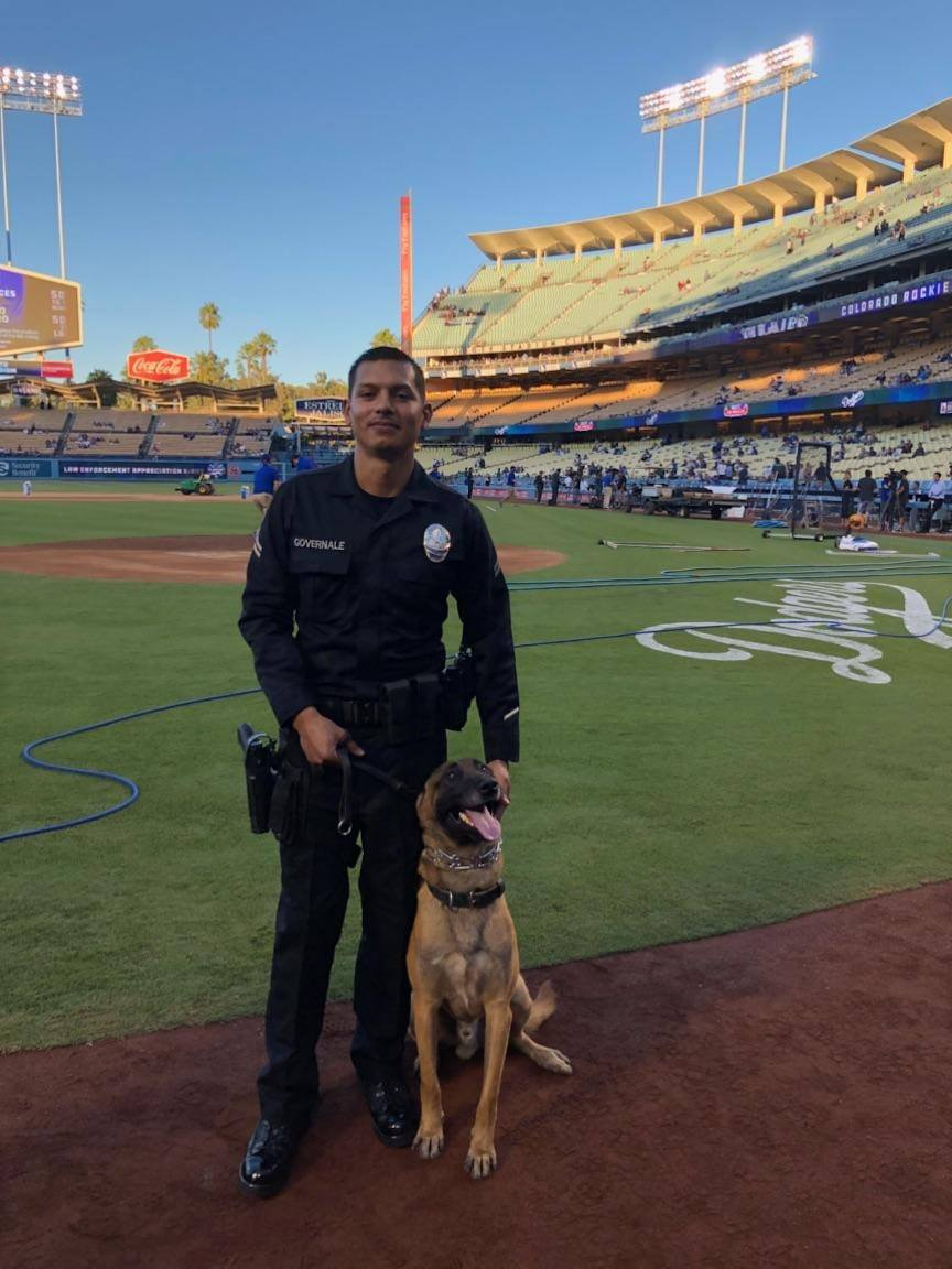 K9 Handler Al Governale and K9 Aron-2